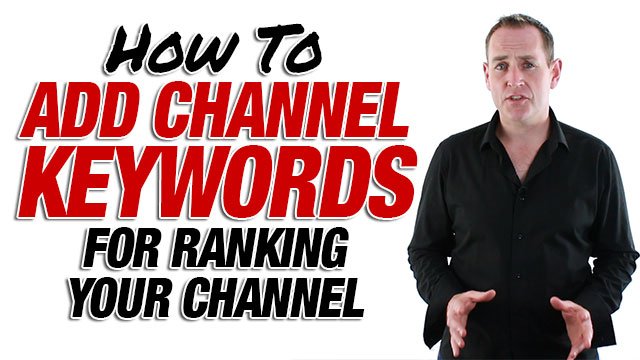 How To Add Channel Keywords