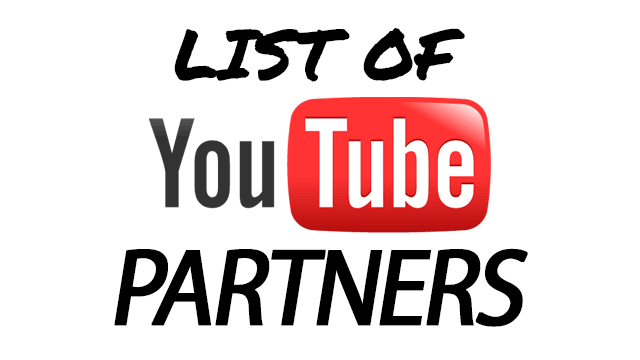 List of YouTube Partners